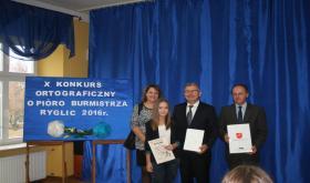 """X Konkurs Ortograficzny """"O pióra Burmistrza Ryglic"""""""